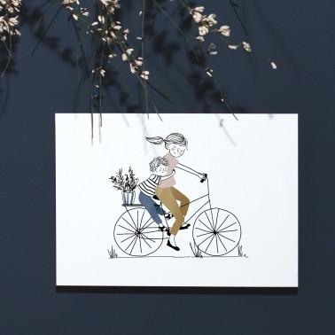 Card Bike Ride Boy