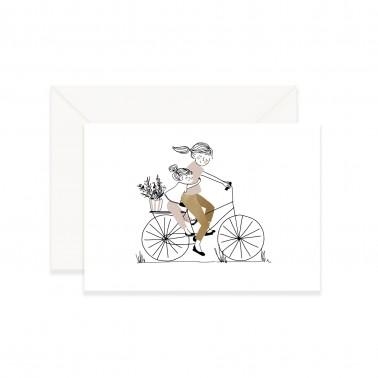 Card Bike Ride Girl
