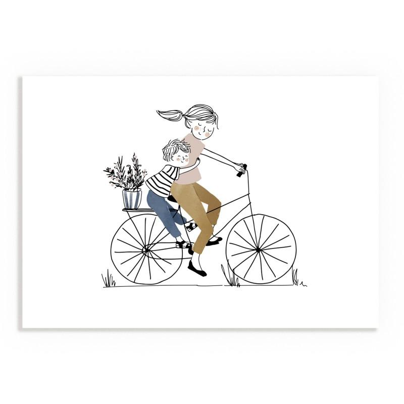 Print Bike Ride Boy