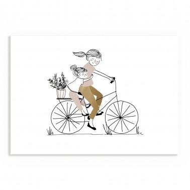 Print Bike Ride Girl