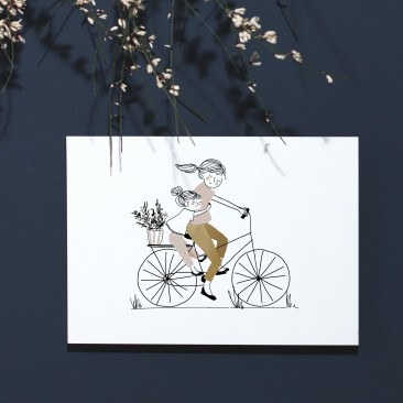 Print Bike Ride Girl