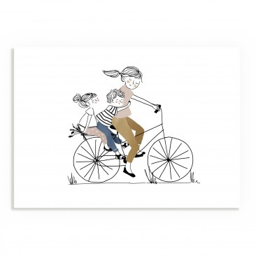 Print Bike Ride Girl and Boy