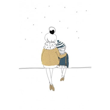 Love Mum and Boy winter