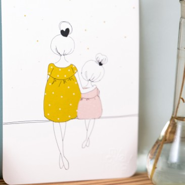 Love mum and girl summer