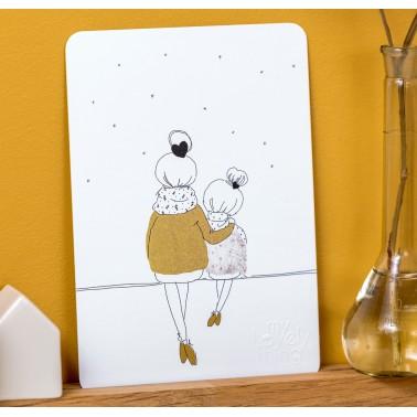 Love Mum and Girl winter