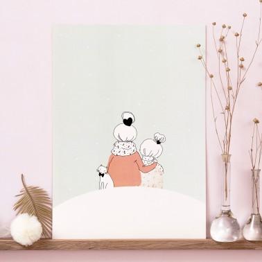 Sous la neige fille