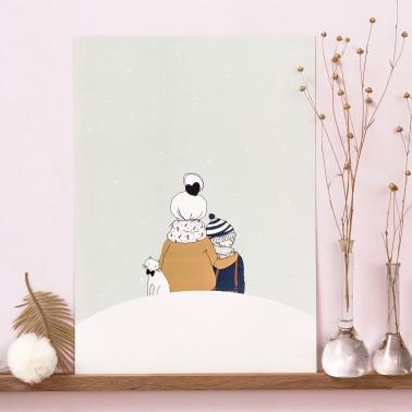 Sous la neige garçon