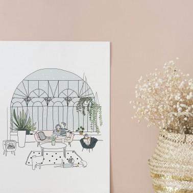 Affiche Jardin d'hiver
